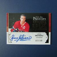 JEAN BELIVEAU 2008 O-Pee-Chee Premier Original Six Signatures 072/100 Canadiens
