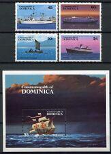 DOMINICA 1984 Schiffe Ships Navi Bateaux 856-59 + Bl.89 ** MNH