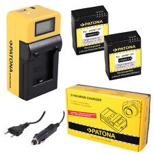 2x Batteria Patona + caricabatteria Synchron LCD USB per GoPro HD HERO 3+