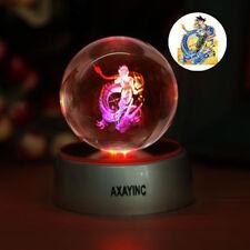 Dragon Ball Z Son Goku 3D LED Decor Crystal Night Light Table Lamp Birthday Gift