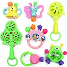 7PC Newborn Toddler Baby Shaking Bell Rattles Teether Kids Hand Toys Funny US