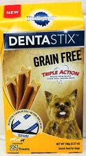 Pedigree Dentastix Grain Free Snack Food for Dogs 5.57 oz Toy Small Dogs Treats