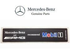 For Mercedes-Benz AMG Mobil1 Oil Sticker Label Emblem Badge Genuine 0045849438
