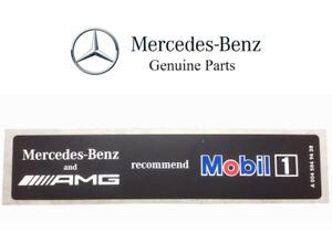 For Mercedes-Benz AMG Mobil1 Oil Sticker Label Emblem Badge Genuine 0045849438