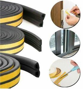 D/E/P/I Rubber Seal Weather Strip Foam Sticky Tape Door Window Draught Seal 5M