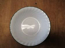 "Corelle CALLAWAY Swirl Dk Green White Soup Cereal Bowl 7"" 1 ea   25 available"