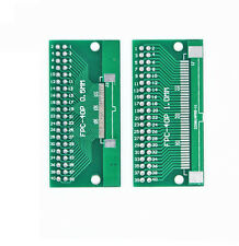 2pcs FFC/FPC 40 Pin 1mm 0.5mm to DIP Adapter PCB Board Converter Double Side NEW