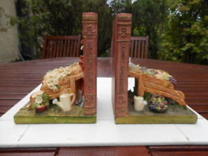 Ceramic Bookends 'Country Gardening'