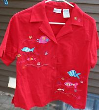 Women's Red Shirt by White Stag;  Size:  S (4/6)