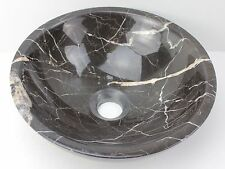 Small Stone 320mm Brown MARBLE Round Bowl Counter Basin Vanity SINK Compact NEW