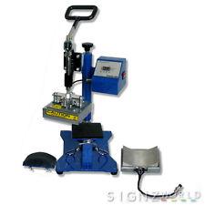 8x14 CAP + 12x12 cm FLAT Combo Heat Press Machine CP3815B Sublimation T-shirt