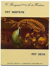 catalogue vente aux enchères Art Nouveau Art Déco 17 dec 1980 Nouveau Drouot