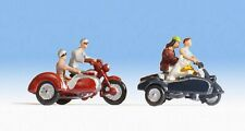 NOCH 15905 Motorradfahrer Motorräder mit Beiwagen 5 Figuren H0 handbemalt