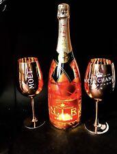 Moet & Chandon Nectar Imperial Rose N.I.R. 1,5l 12% Vol. + 2 Glas Gläser Kupfer