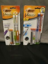 Bic Velocity Side Clic & Max mechanical pencils Lot of 2 (Please read details)