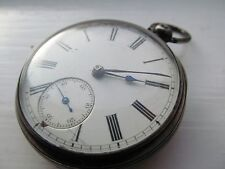 Vintage English silver fusee pocket watch, London 1877.