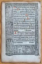 Book of Hours Leaf Vostre Horae Dance of Death Border (A) Paris 1501