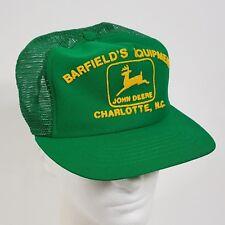Vintage John Deere Trucker Hat Made In Usa Puffy Logo