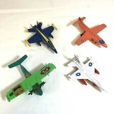 Lot of 4 Diecast Airplanes Including Blue Angel Aircraft Military Planes