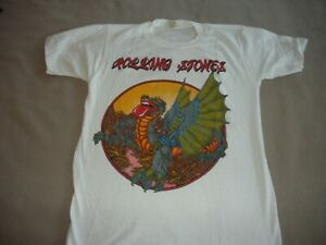Very Rare Vintage 1980s New Unsold ROLLING STONES Rock T-Shirt - SM  Excellent