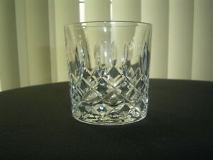 VINTAGE LEAD CRYSTAL CUT TUMBLER WHISKY GLASS GOOD QUALITY