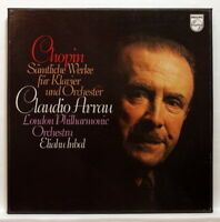 CLAUDIO ARRAU - CHOPIN complete works for piano & orchestra PHILIPS 3xLPs box NM