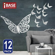 3D Butterfly DIY Wall Decal Removable Sticker Wedding Nursery Home Deco Silver C