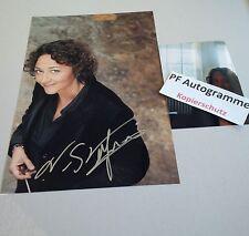 Nathalie Stutzmann dirigentin & cantante en-persona signed autógrafo foto 20x30