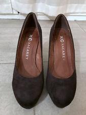 Scarpe tacco scamosciate nere XC-XACARET black suede shoes EU37 UK4