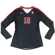 New Nike DQT Vapor Pro Stanford University Volleyball Jersey Women's M Black #18