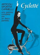 Carnielli Catalogo Cyclette Vogatore Skiff Gym Valiant Punching-Ball 1967