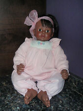 "Susan Wakeen "" Mommy Loves Me"" 18"" Vinyl African American Black Baby Doll 1997"