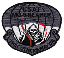 USAF AIR FORCE MQ-9 REAPER PATCH UAV UNMANNED AERIAL VEHICLE UAS HOOK AND LOOP