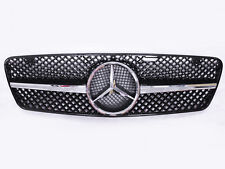 Front Grill Kit For Mercedes Benz C W203 C180 C200 - Grille Sport 1 Fin Chrome