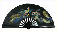 Kung Fu Bamboo Dragon Fan Tai Chi Training Martial Arts Taiji Dance Fighting