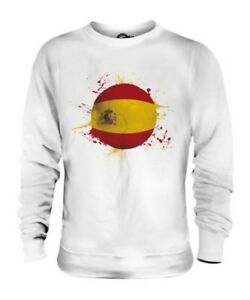 SPAIN FOOTBALL UNISEX SWEATER TOP GIFT WORLD CUP SPORT