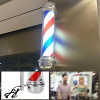 SALE!! Barber Shop Sign Wall-Mounted Lamp Rotating Pole Light LED Salon US Plug