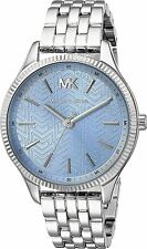 Michael Kors Ladies Lexington 3-Hand Blue Dial Stainless Steel Watch MK6639 NEW!