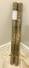 "Leopard Print Wrapping Paper Cheetah Gift Wrap 2 Rolls 30"" x 12' Each New Unused"