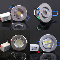1W 3W LED Cabinet Recessed Ceiling Spot Light Bulb Down Lamp AC 85V~265V Driver