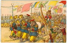 Postcard Thompson Animals Rebellion T.S.N. Series 759 Military Parade