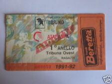 TORINO - ATALANTA BIGLIETTO TICKET 1991 / 92