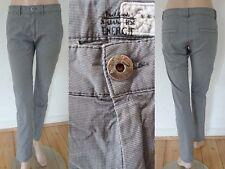 Energie Hose Jeans Girl Casual Style Chinos Stretch Mini Hahnentritt grau 30 1A