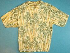 "Mens L Roomy 52"" Chest Jamaica Jaxx Camp Hawaiian Tropical Shirt SS Silk Bamboo"