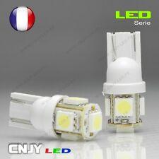 2 AMPOULE 5 LED SMD T10 CULOT W5W WY5W W3W W2.1x9.5d BLANC HID XENON 180°12V