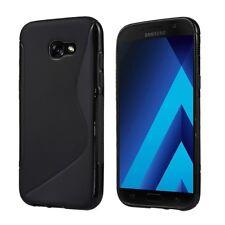 S-Line TPU Silicone Sac Housse Coque Case Pour Samsung galaxy a5 2017-Noir