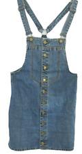 Zara Denim Women Dress Skirtall Trafaluc sz M adjustable straps dungaree overall
