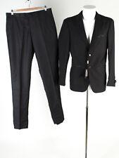 Herren Anzug NEU Gr. 50 Slim Fit Wolle Sakko Hose Business Suit Jacket Pants