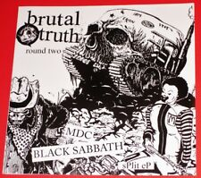 "Brutal Truth: Round Two MDC / Black Sabbath - Limited Edn. 7"" Clear Vinyl LP NEW"