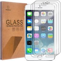 3 Pack Mr Shield Tempered Glass Screen Protector for Apple iPhone 6 6s New
